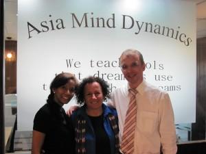 Shelle Rose Charvet, Andreas Dorn and Najwa Dorn Rustum
